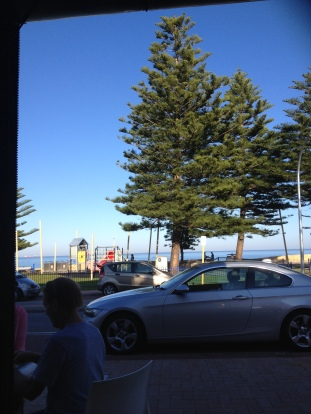 Loving this experience, writing this post at Cottesloe on a Thursday morning